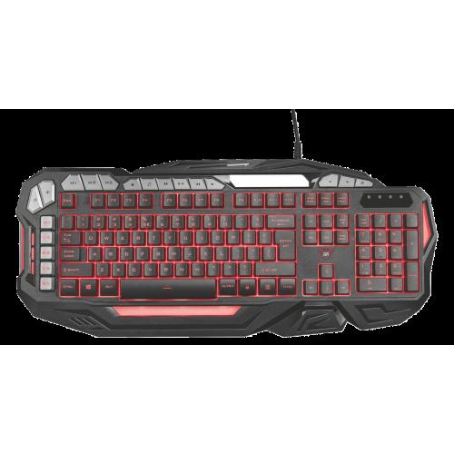 Игровая клавиатура 21201 Trust GXT 285 Advanced 8 доп клавиш 5 макросов металл подсветка