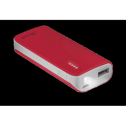 Внешний аккумулятор 21226 Trust PRIMO 4400mAh красный