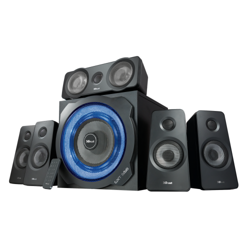 Игровая акустическая система 5.1 21738 Trust GXT 658 TYTAN 180Вт подсветка ДУ 3,5mini-jack (PC Wii PS3 Xbox Tablet)