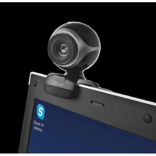 Веб-камера Trust Exis 640x480 с микрофоном (17003)